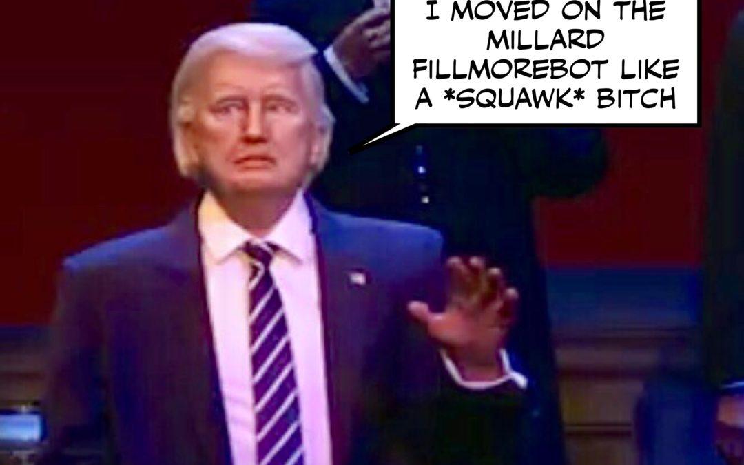 Robo-Trump Debuts, Corker Kicks Back at the #CorkerKickback, Jill Stein's Turn at Last, & Other News