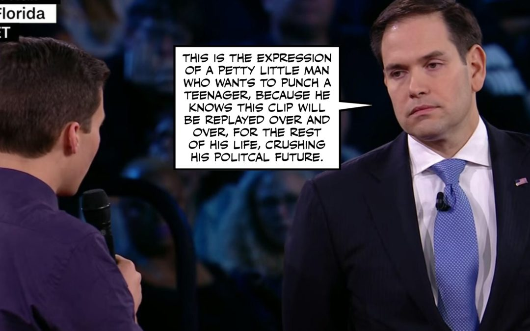 Nut Punches to the NRA AND Humiliation for Marco Rubio?  What Should I Do With My Third Wish?