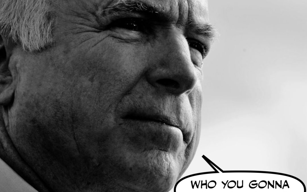 Is John McCain Haunting the President, or is it Just an Experimental Hair Tonic-Induced Hallucination?
