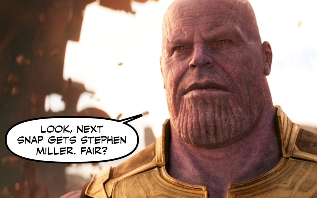 The News, or, How Many White Supremacists Does it Take to Ruin the Week when an Avengers Movie Comes Out?