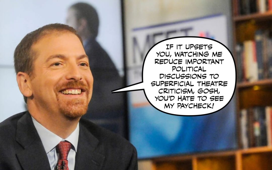 Chuck Todd Thinks the Defense of American Democracy Needs More Cowbell, Cleavage