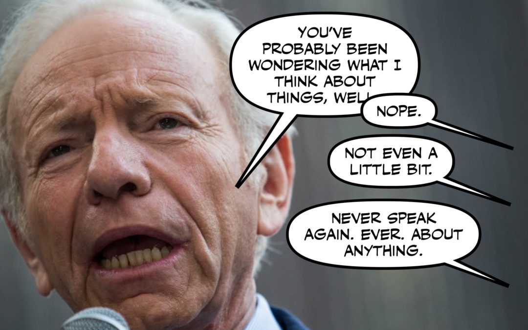 This Week in Hell: Woodward and Whistleblowing and…Joe Lieberman Was There